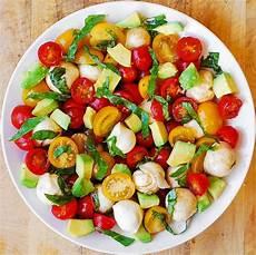 tomate mozzarella dressing tomato basil avocado mozzarella salad with balsamic