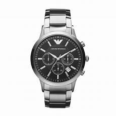 emporio armani herren armbanduhr edelstahl silber schwarz
