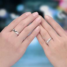 black baking finish half heart couple ring personalized love heart wedding band in 925 sterling