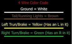 standard color code for wiring simple 4 wire trailer lighting etrailer com