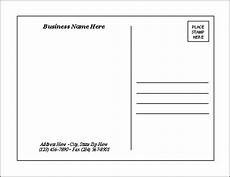 postcard address template word postcard templates