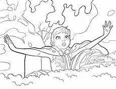 elsa getting surprised coloring page print