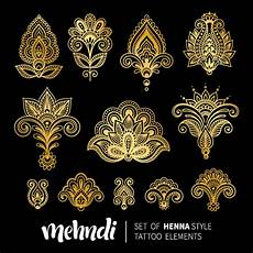 mehndi styles henna tattoo elements vector 06 vector flower free download