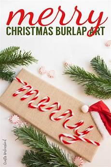 diy christmas art merry burlap crafts unleashed