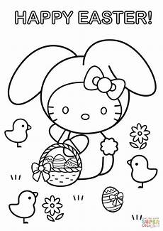 hello happy easter coloring page free printable
