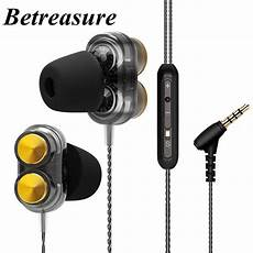 Professional Wired Earphone Heavy Bass Headphone by Betreasure Wt01 Earphones Dual Driver Dynamic Earphone