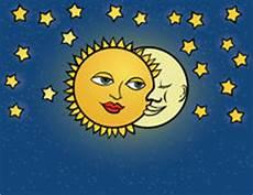 concepto de los personajes de dibujos animados sun y de la d 237 a y noche ilustraci 243 n del