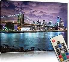led bild skyline new york 60 x 40 cm front lighted