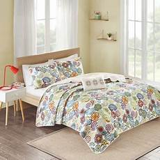 white blue green tula quilted coverlet full queen 4pc target
