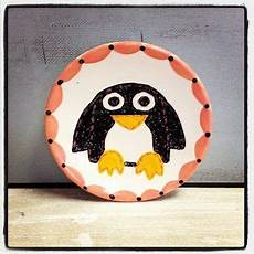 penguin plate www weirdgirlcreations with images