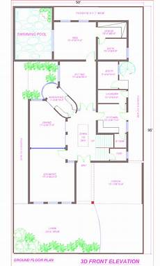 one kanal house plan 1 kanal house plan with swimming pool in dha lahore with