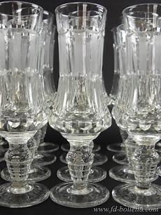 servizio di bicchieri servizio di bicchieri vecchi lotto di bicchieri antichi in