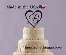 wedding cake topper initial topper personalize wedding