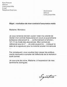 Resiliation Assurance Voiture Lettre Type Gratuit Modele