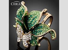 CHRAN Wholesale Gold Color Party Jewelry Rings Elegant