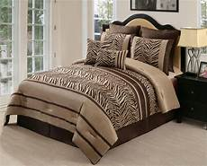 zebra print bedroom 8pc zambia chocolate brown zebra print comforter set