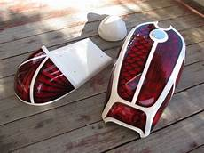 custom paint candy color style motorcycle tank