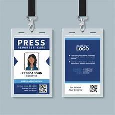 journalist id card template press reporter id card template vector premium
