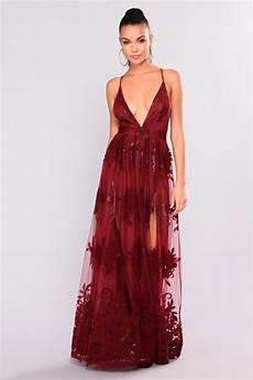 sweet sound maxi dress wine