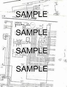 1973 jeep cj wiring diagram 1974 jeep cj 5 cj 6 dj 5 dj 6 6 cyl v8 74 wiring guide chart diagram ebay