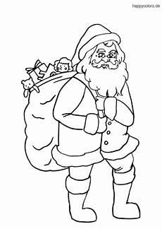 weihnachtsmann malvorlage kostenlos 187 weihnachtsm 228 nner