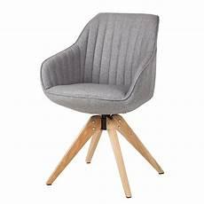 armlehnenstuhl ermelo drehbar grau stuhl esszimmerstuhl