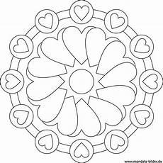 Ausmalbilder Sterne Und Herzen Mandala Herzen Gratis Ausmalbild