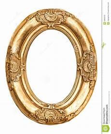 cadre ovale pour photo cadre ovale d or d isolement sur le blanc objec baroque d