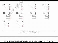subtraction worksheets class 1 10021 maths subtraction worksheets for class 1