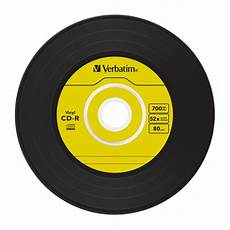 verbatim 52x cd r quot quot vinyl 45rpm single quot quot label azo