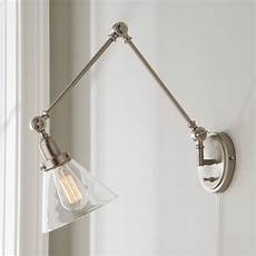 industrial triangle shade swing arm wall sconce shades of light