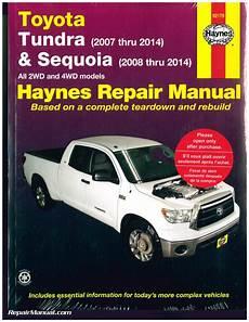 free car manuals to download 2012 toyota tundra interior lighting haynes 2007 2014 toyota tundra 2008 2014 sequoia repair manual