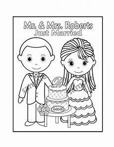 Malvorlagen Wedding Printable Personalized Wedding Coloring Activity Book Favor