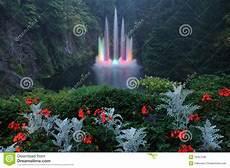 fontana illuminazione illuminazione di notte della fontana fotografia stock