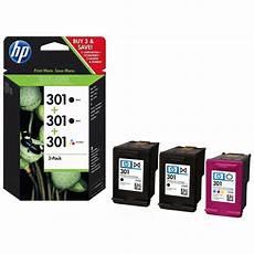 Hp 301 3 Pack Colour Ink Cartridge E5y87ee Ebuyer