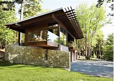 frank lloyd wright inspired style and cing collide in maine dwell