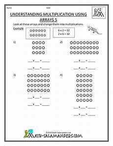 understanding arrays sheets 2nd 3rd gr teaching math multiplication division pinterest