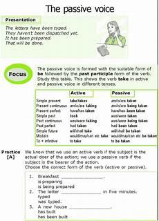 grammar exercises for grade 7 19266 grade 7 grammar lesson 6 the passive voice 0 teaching grammar grammar lessons