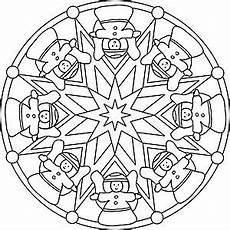 Malvorlagen Gratis Mandala Weihnachten Mandala Malvorlage Mit Weihnachtsengeln Und Sternen
