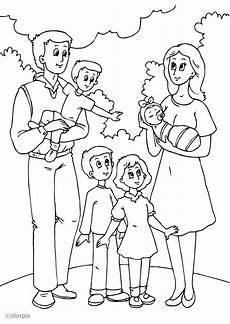 malvorlage 5 vaters neue familie ausmalbild 25991