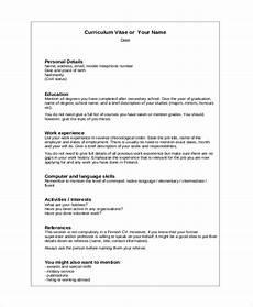 sle resume layout 8 exles in word pdf