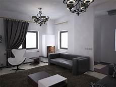 Bilder 3d Interieur Wohnzimmer Schwarz Wei 223 Valea