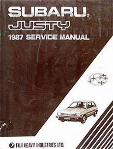 car service manuals pdf 1987 subaru justy electronic throttle control 1987 subaru justy repair shop manual original