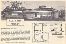 vintage house plans 1950s houses mid century homes