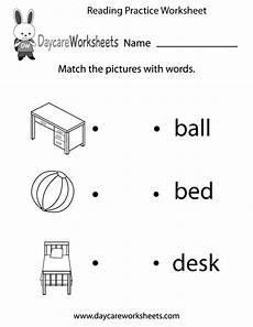 worksheets for preschool reading free reading practice worksheet for preschool