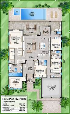 lanai house plans contemporary 4 bed house plan with study and covered lanai