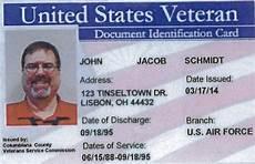 veteran id card template columbiana county offers free veteran photo id cards