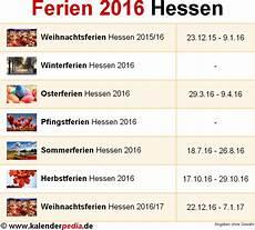 Ferien Hessen 2016 220 Bersicht Der Ferientermine