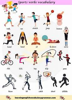 type de sport sports vocabulary list with pictures