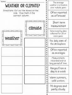 worksheets on weather and climate for grade 5 14645 weather and climate cut and paste sorting activity by jh lesson design
